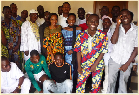 Teachers trained thanks to CONSA, with their students - Cotonou, BENIN